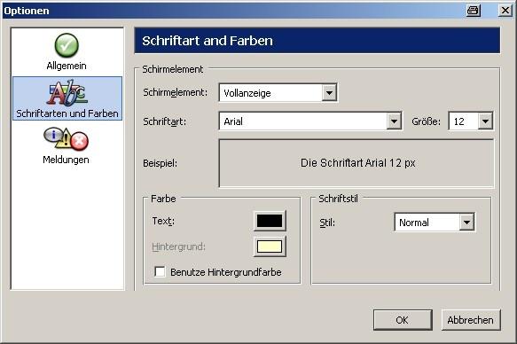 467272aad66b Einstellungen: Schriftarten und -farben - K10plus - Startseite